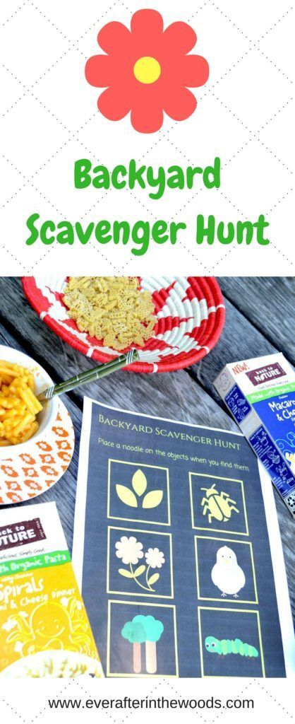 Get back to nature with this Backyard Scavenger Hunt #backtoplay AD