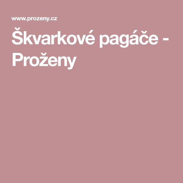 Škvarkové pagáče - Proženy