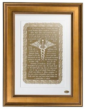 Doctors Prayer , Gold Frame - transitional - Fine Art Prints - Vahaz Gold Art