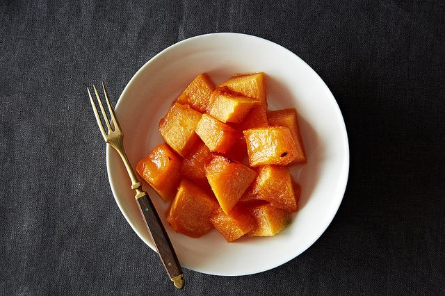 When life hands you disappointing, unripe cantaloupe, make this Genius Roasted Cantaloupe from Food52. Just leave out the optional sugar for Phase 1.