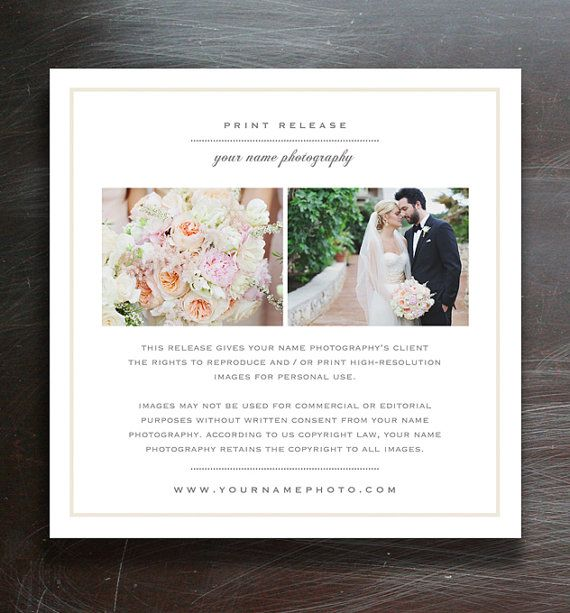 wedding photographer licensing forms print release template photo marketing copyright. Black Bedroom Furniture Sets. Home Design Ideas