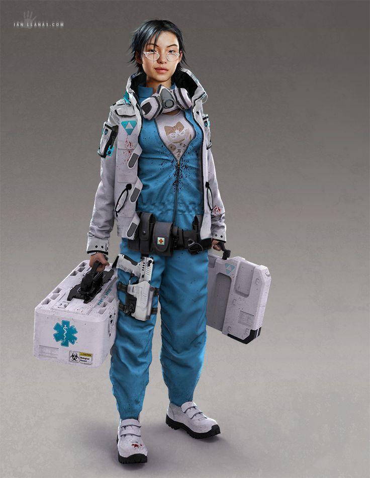Cyberpunk Field Medic by ianllanas