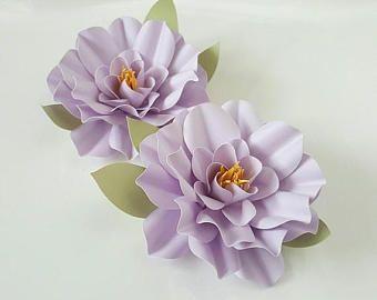 Papier fait main fleur embellissements - lilas - scrapbooking - carterie - Tag Decor - alimentation fête - mariage - anniversaire d'alimentation