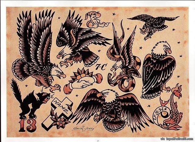 sailor jerry old school tattoo via traditional tattoos pinterest sailor. Black Bedroom Furniture Sets. Home Design Ideas