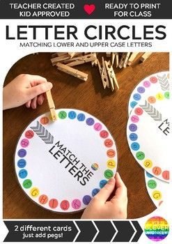 These letter and sound circles are a fun hands-on way to learn upper and lower case letters!Perfect when matched with our INITIAL SOUNDS WHEELS - they make differentiation easy in your literacy circles!Just print on lightweight card stock for added durability, laminate then add some clothes pegs to match to the letters.See how we use them in class here!