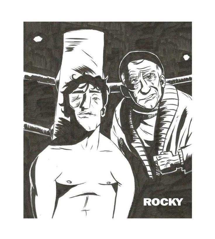 """rocky""- by ascdman. illustrated manual, with brushpen(pentel gfkp japan)(pentel k108 hybrid roller) , digitally edited (frame and typography)"