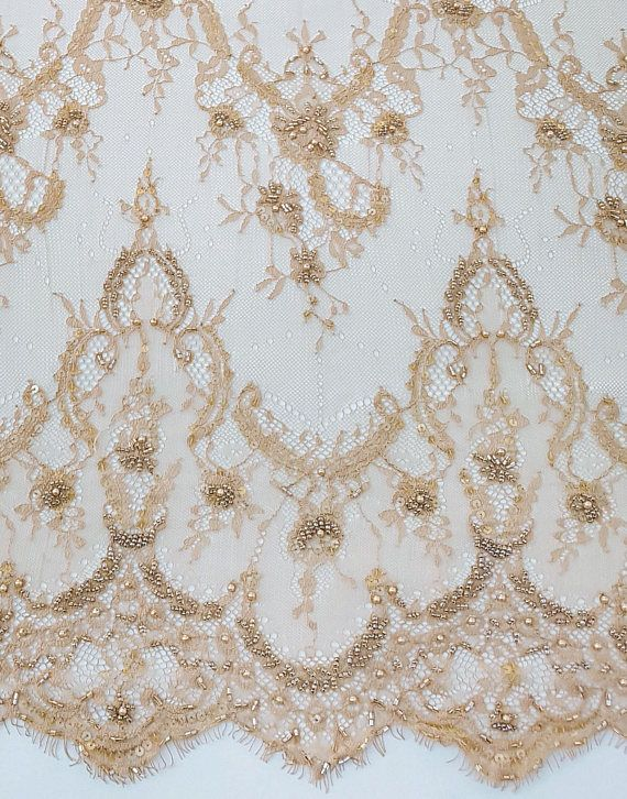 Beaded Lace Beaded Lace Fabric Pink Lace Handmade Lace Fabric