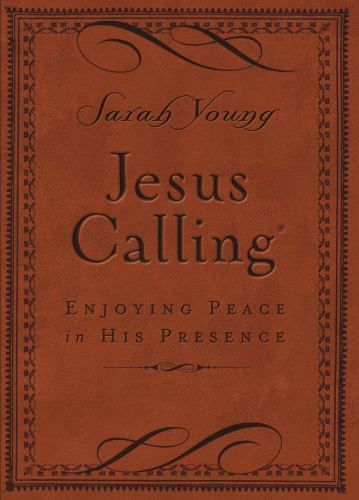 JESUS CALLING Sarah Young Brown Leather Enjoy Peace in His Presence
