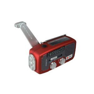 Et�n American Red Cross ARCFR160R Microlink Self-Powered AM/FM/NOAA Weather Radio with Flashlight, Solar Power and Cell Phone Charger (Red)