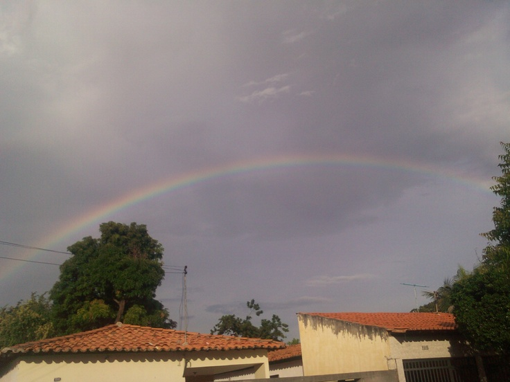 O arco-íris em Teresina - se chove, em seguida faz sol: e o coração aperta de saudades!!