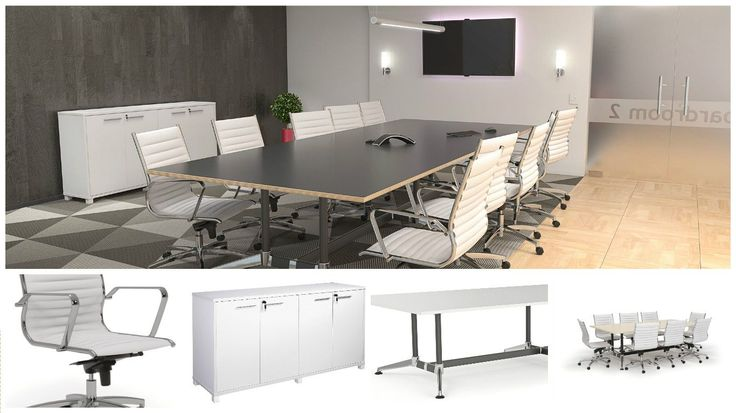 Combine this set of furniture together to make the perfect minimalistic boardroom.  http://www.jpoffice.com.au/