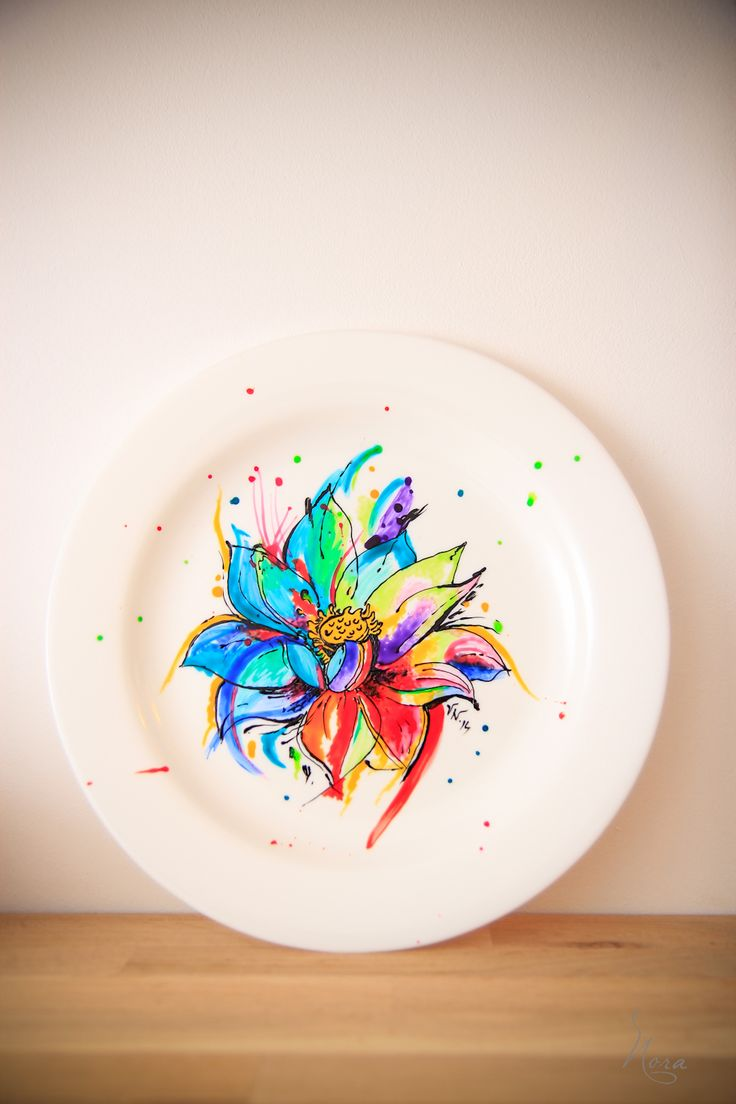 Painted Plate... Lotus