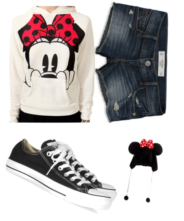 """""""Minnie Mouse Outfit for a Day at Disneyland"""" by brittacupcake on Polyvore"""