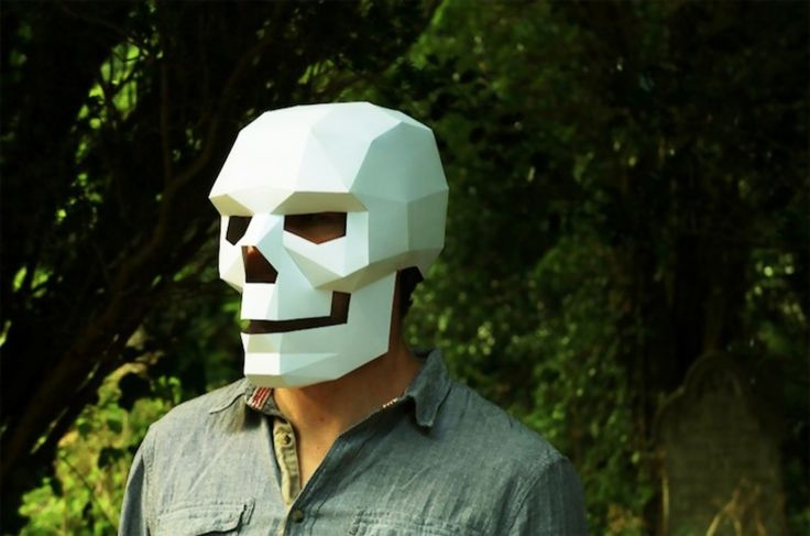 Designer Steve Wintercroft designed these masks in different forms, from animal shapes to spooky skulls and pumpkins.