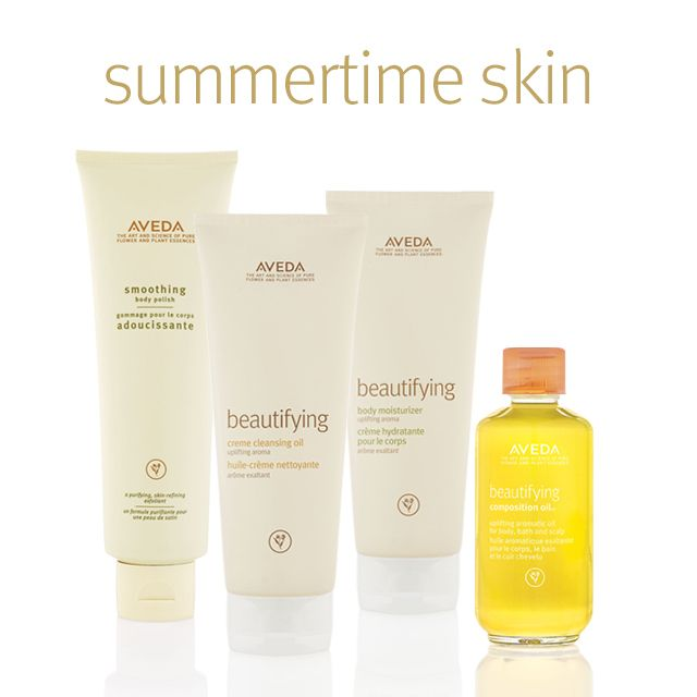 Exfoliate, moisturize and illuminate your way to beautiful, touchable summertime skin with a little help from Beautifying. #skincare #SmellsLikeAveda
