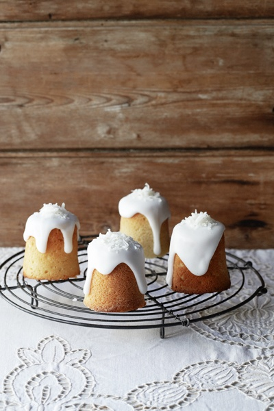 lemon lime coconut cakes