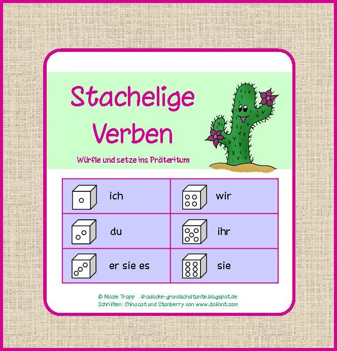 Frau Locke: Stachelige Verben - Kartei