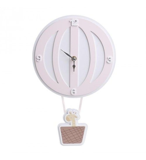 MDF 'BALLOON' WALL CLOCK IN PΙΝΚ COLOR 24Χ1Χ36_5