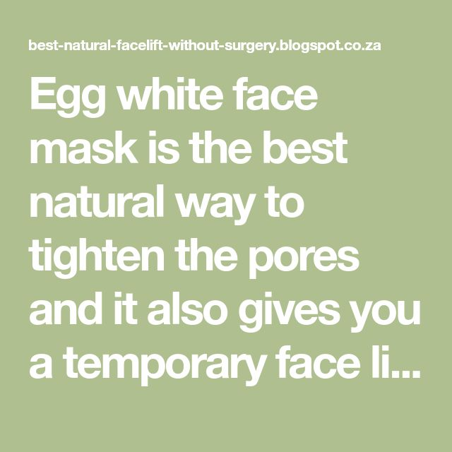 Egg white face mask is the best natural way to tighten the pores and it also gives you a temporary face lift. If you want to have firm, tight, and youthful looking skin without paying for expensive face care products, then use egg whites face masks. Egg white masks are safe and effective way to get a natural face lift at home.