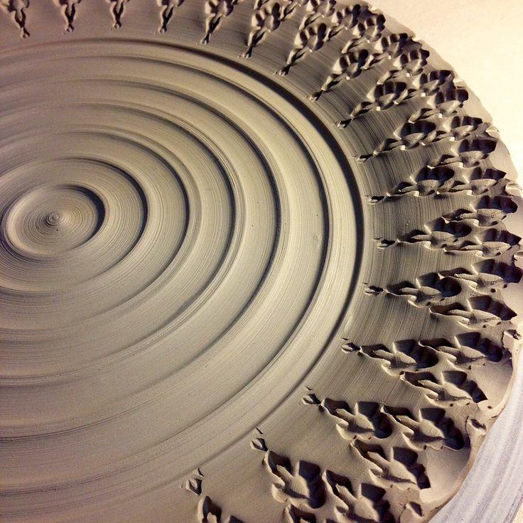 Gary Jackson-stamped platter detail