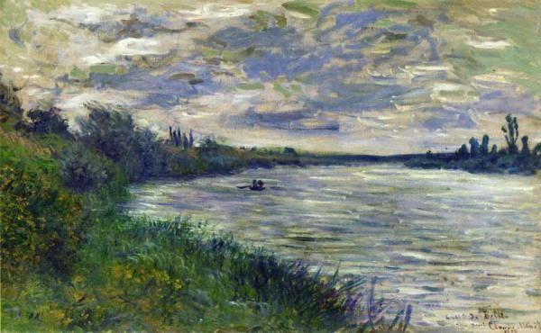 24x36 Claude Monet Art Poster The Seine Near Vetheuil
