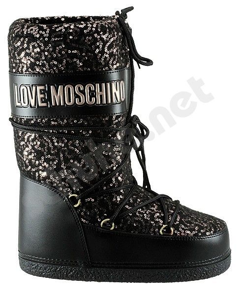 Love Moschino Snow Boot paillettes kupfer