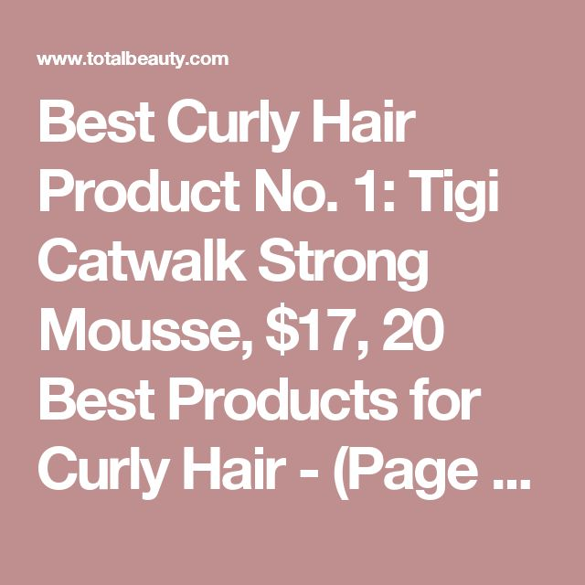 how to use mousse in curly hair