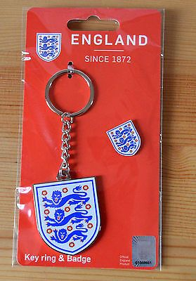 England #football team #official #merchandise three lions keyring and badge new,  View more on the LINK: 	http://www.zeppy.io/product/gb/2/192020433573/