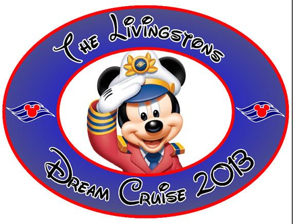 Custom Personalized Mickey Oval Disney Cruise Line Stateroom Door Magnet