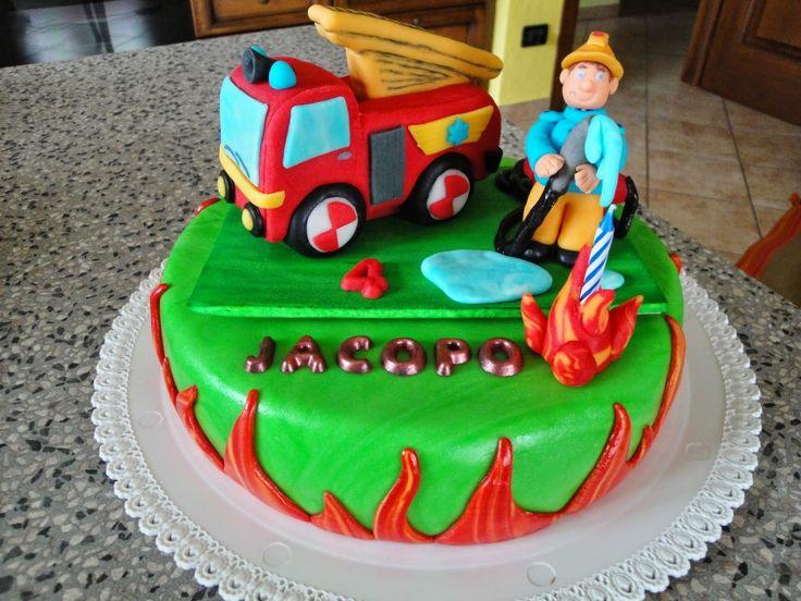 """Torta """"Sam il pompiere"""""""