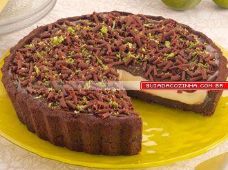 Receita de Torta-musse de chocolate com limão