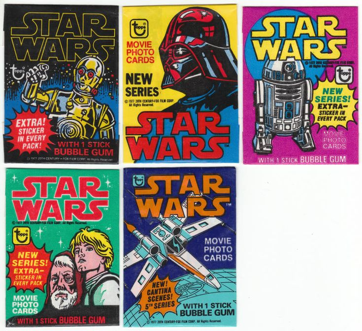 1977 topps star wars trading cards series 1 5 wax pack
