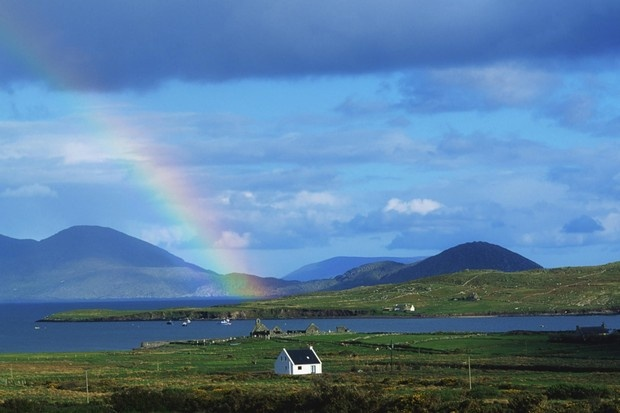 Rainbow over Cottage, Ballinskellig, Ring of Kerry, County Kerry, Ireland