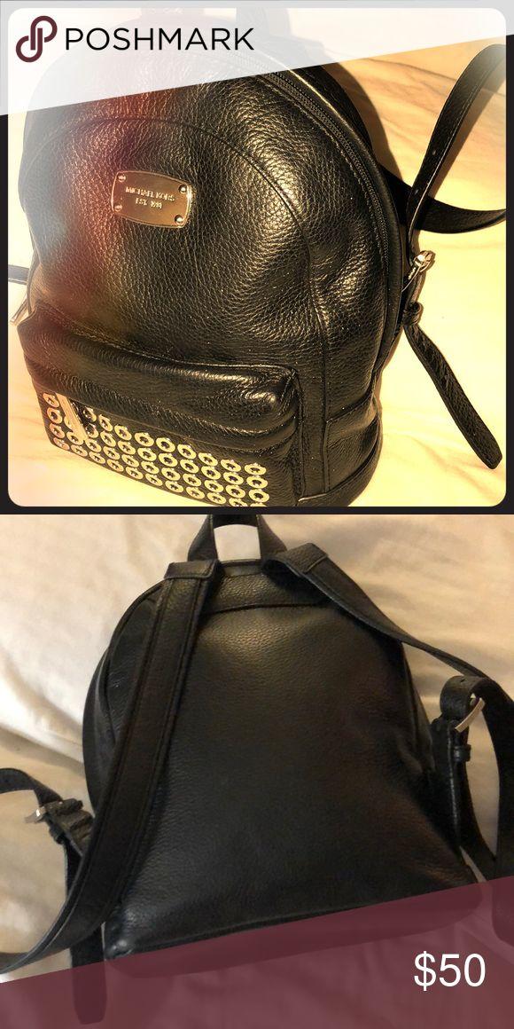 Michael Kors Petite backpack / handbag • Two outer pockets  • 2 straps for carrying  • Black leather Michael Kors Bags Backpacks