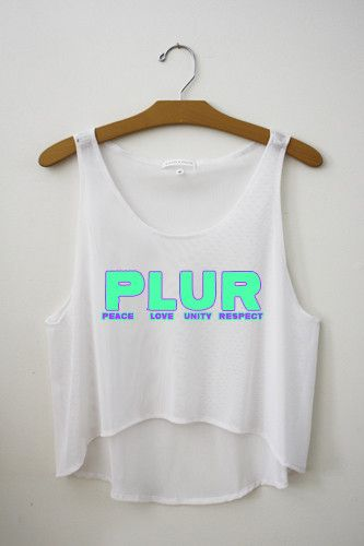 PLUR Crop Top – Hipster Tops