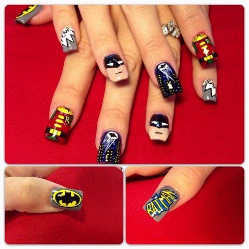 my version of batman by Oli123 - Nail Art Gallery nailartgallery.nailsmag.com by Nails Magazine www.nailsmag.com #nailart