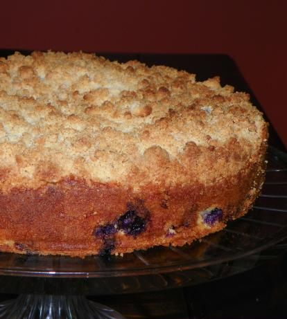 Made this last night and it was delicious!    Barefoot Contessa's Blueberry Crumb Cake