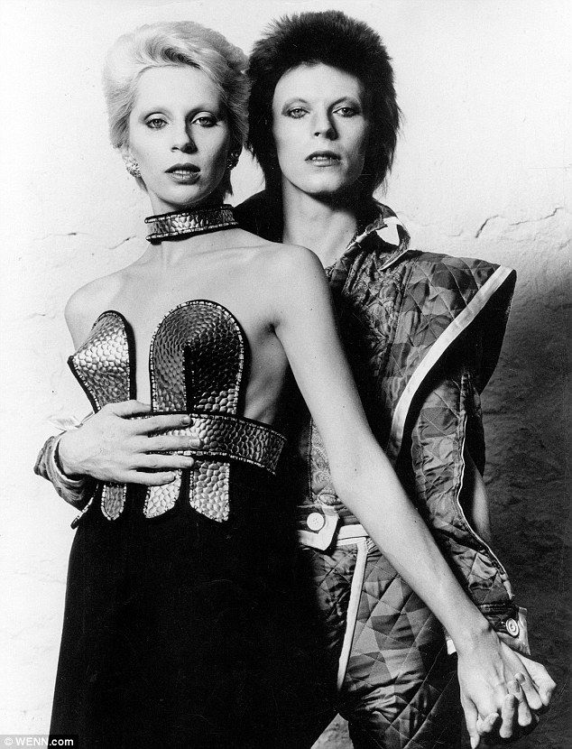 David and Angie Bowie, pictured in 1970, shortly after they married after first meeting in 1968