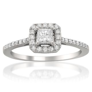 White Gold Halo Ring