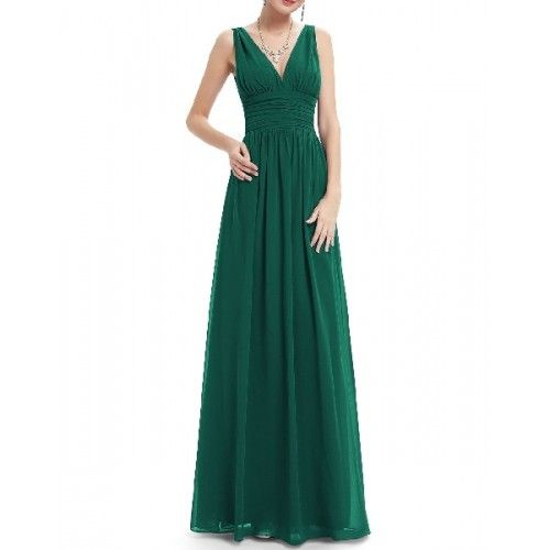 Vestido largo verde military academies