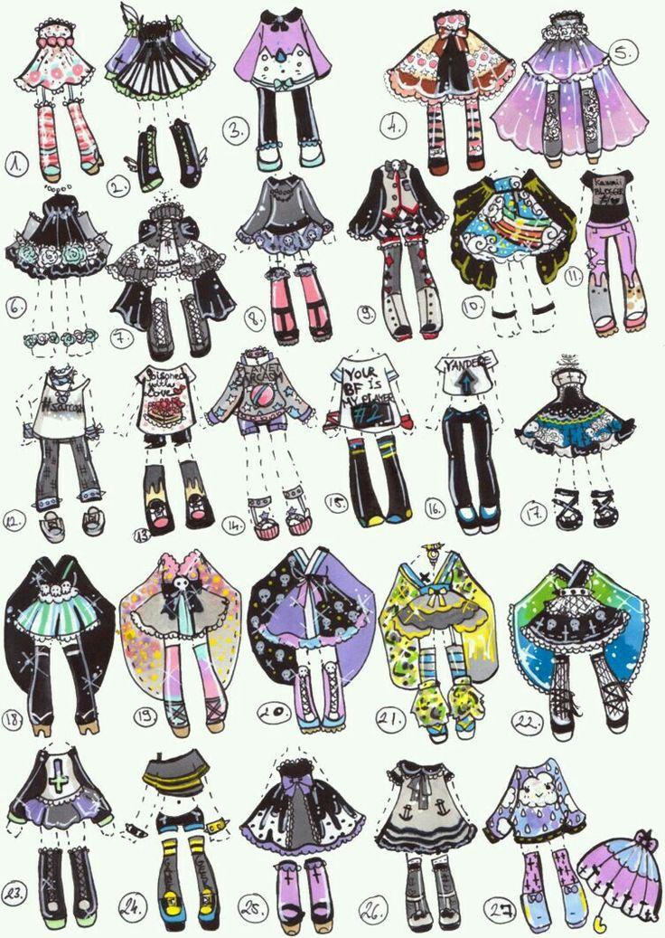 Ideas de ropa kawai