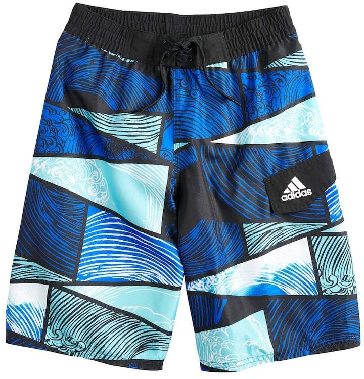b23113e794 Boys 8-20 adidas Water Stripe Swim Trunks   Products   Swim trunks, Trunks,  Swimming
