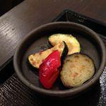 自然菜食 りんどう - 料理写真:ズッキーニとパプリカのグリル