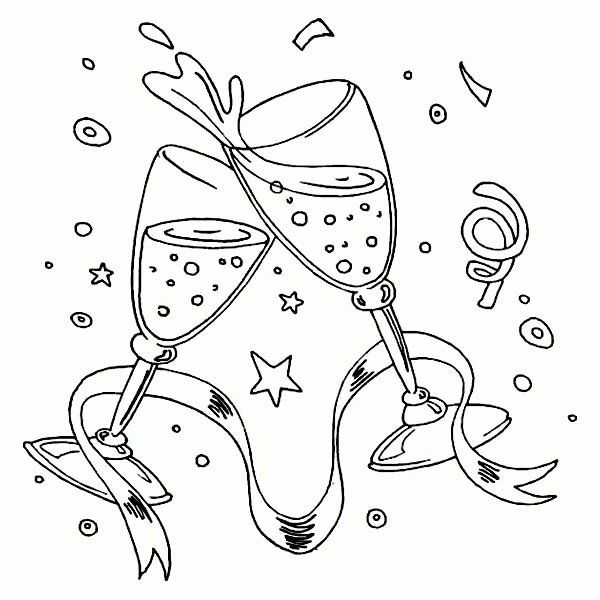 24 New Years Coloring Page In 2020 New Year Coloring Pages