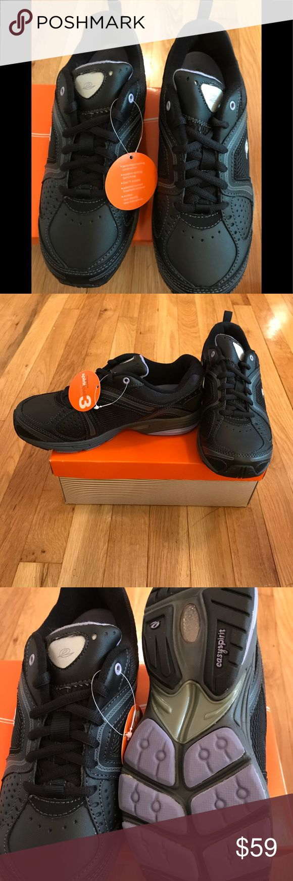 Black Easy Spirit Walking Shoes Keep comfy in these never worn, tags on, still in the box sneakers. Great for long walks, or just daily errands. Easy Spirit Shoes Sneakers