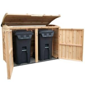 Outdoor Living Today 6 ft. x 3 ft. Oscar Waste Management Shed-OSCAR63 at The Home Depot