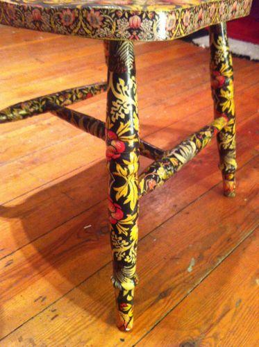 William Morris Strawberry Thief Decoupage Chair Gold   eBay