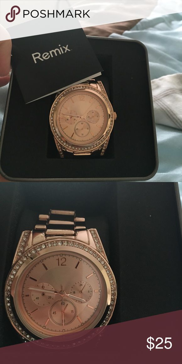 "Ladies rose gold ""Remix"" watch Brand new never worn in box ladies remix rose gold watch. Jewelry Bracelets"