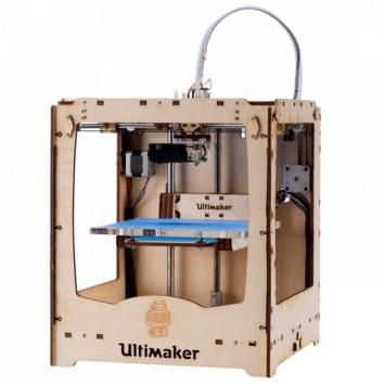 Ultimaker Ultimaker Original 8.5 / 10 - 950€ First released as a kit in 2011, the Ultimaker Original is one of the oldest desktop 3D printers. It can print files unto 21 x 21 x 20.5 cm. at a maximum resolution of 20 microns. An active community is there to support you in case you seek advice or modifications.