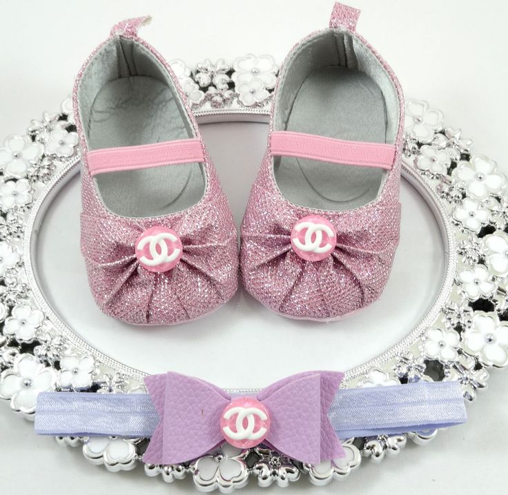 Baby Girl Crib Shoes and Headband Set, Newborn Baby Girl Shoes, Baby Accessories #Handmade #CribShoes